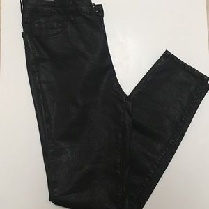 Women's Pacsun coated black jeans skinny